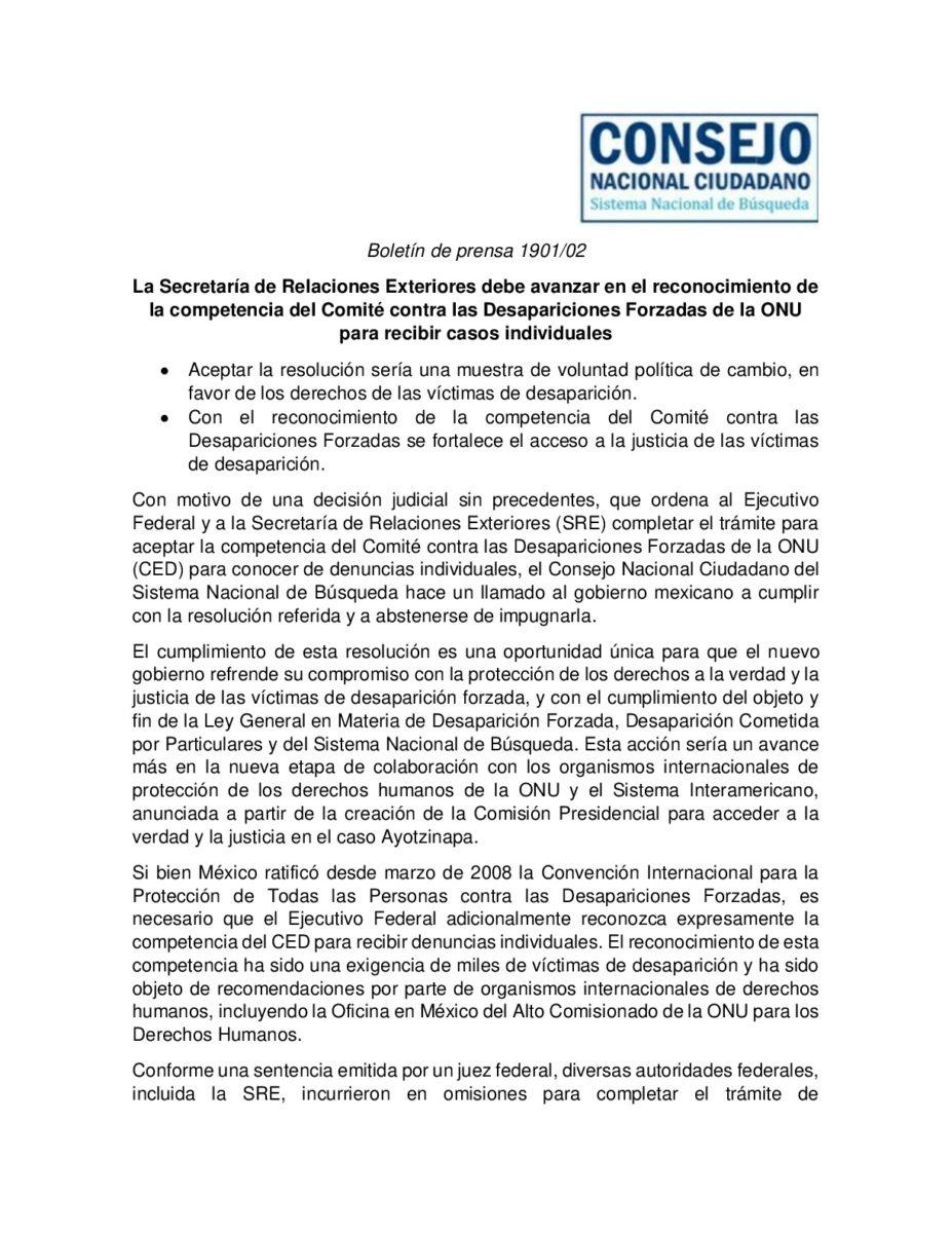 COMUNICADO_CONSEJO NACIONAL CIUDADANO_ONU COMITÉ DE DESAPARICIÓN_1