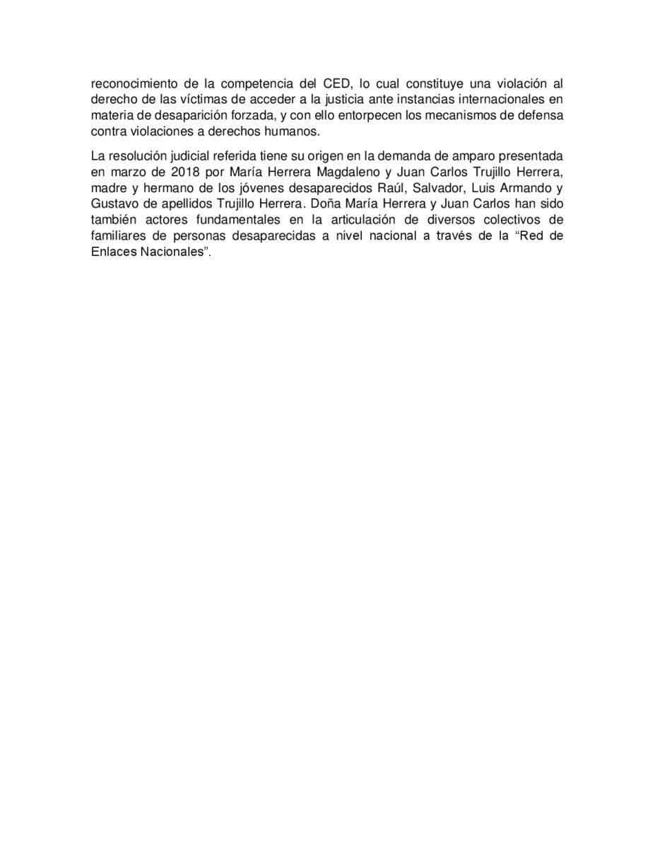 COMUNICADO_CONSEJO NACIONAL CIUDADANO_ONU COMITÉ DE DESAPARICIÓN_2