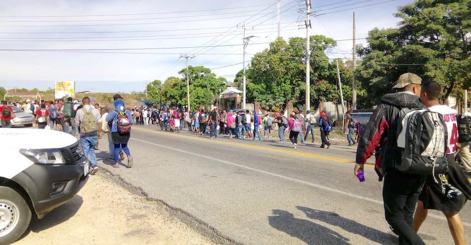 Ingresan a Oaxaca las primeras personas migrantes de la nueva caravana 2019