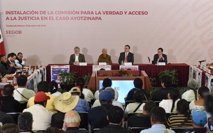Instalan Comisión para la Verdad y el Acceso a la Justicia para el caso Ayotzinapa