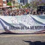 A un año de la desaparición forzada de los tres estudiantes del CAAV instalan memorial vivo