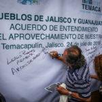 Por opacidad y sigilo en la realización de obras hídricas, pueblos de Jalisco firman acuerdo para aprovechar su agua