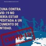 """""""La vacuna de COVID-19 no debería ser supeditada a un documento de identidad'': denuncian que estrategia nacional de vacunación excluye a migrantes"""