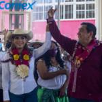 Inicia campaña Evelyn Salgado y su papá se lleva las palmas